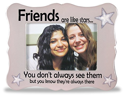 Banberry Designs Friends Picture Frame - Ceramic Picture Frame Fits a 4