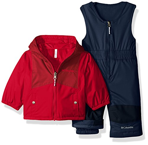 Columbia Baby Girls' Double Flake Set, Mountain Red, Beet, 6