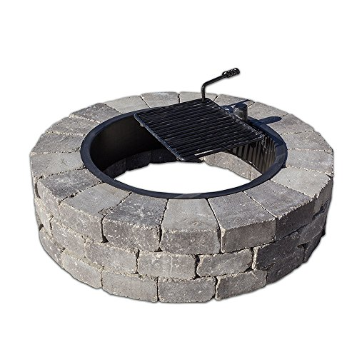 Necessories Grand Fire Ring with Swivel Cooking Grate, Bluestone