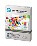HP Cards & Invitation Kit with Envelopes, Glossy Rounded Corners, 5x7, 25 Sheets