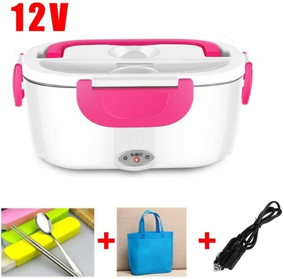 Cajas Bento Acero Inoxidable el/éctrico Bento Box Lunch Weated Caliente Coche t/érmica Lunchbox port/átil envase de alimento Oficina de la Escuela Kid Box Lunch LPLHJD Color : 12V Pink