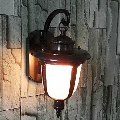 ZQ Character design Outdoor Wall Light, 1 Light, Vintage Aluminum Glass Painting , 110-120V
