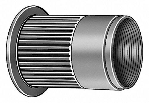 Steel Knurled Flanged Rivet Nut 0.484