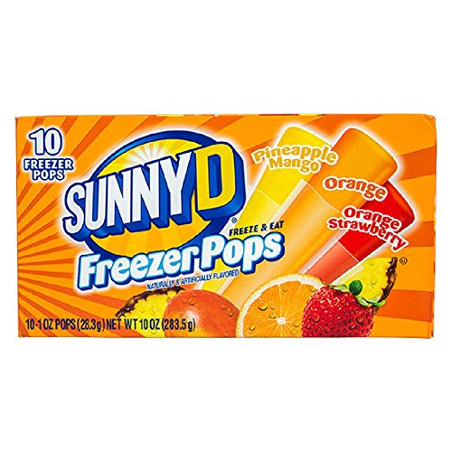 SunnyD Freezer Pops 3 Flavor Variety 10 ct Boxes (2 pack)
