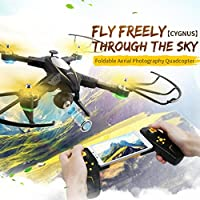 Nicerokaka Foldable JJRC H39 RC WiFi HD FPV Camera 2.4GH 4CH 6-Axis VS H37 Drone Quadcopter Black