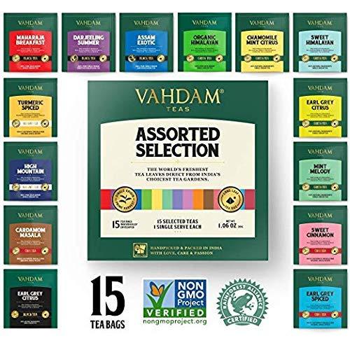 VAHDAM, los mejores surtidos de té 15 diferentes surtidos de ...