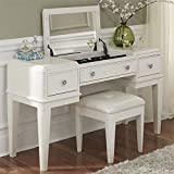 Liberty Furniture 710-BR35 Stardust Vanity, 53'' x 18'' x 30'', Iridescent White