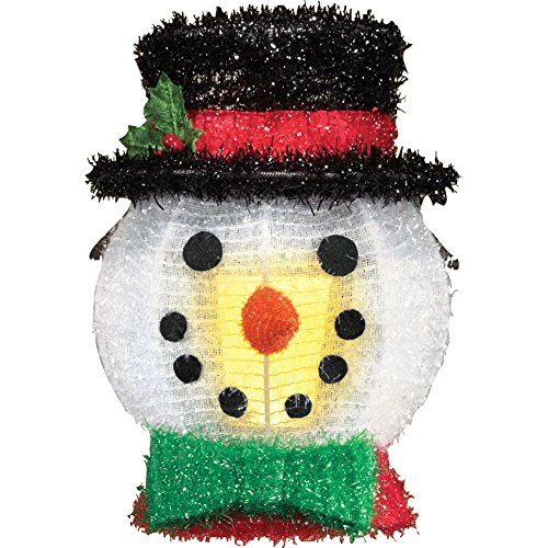 Holiday Lights Snowman (Outdoor Holiday Porch Light Covers - Set of 2, Snowman)