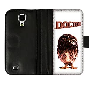 Cute Owl Custom Diary Leather Cover Case for SamsungGalaxyS4 I9500-Credit Card Holder
