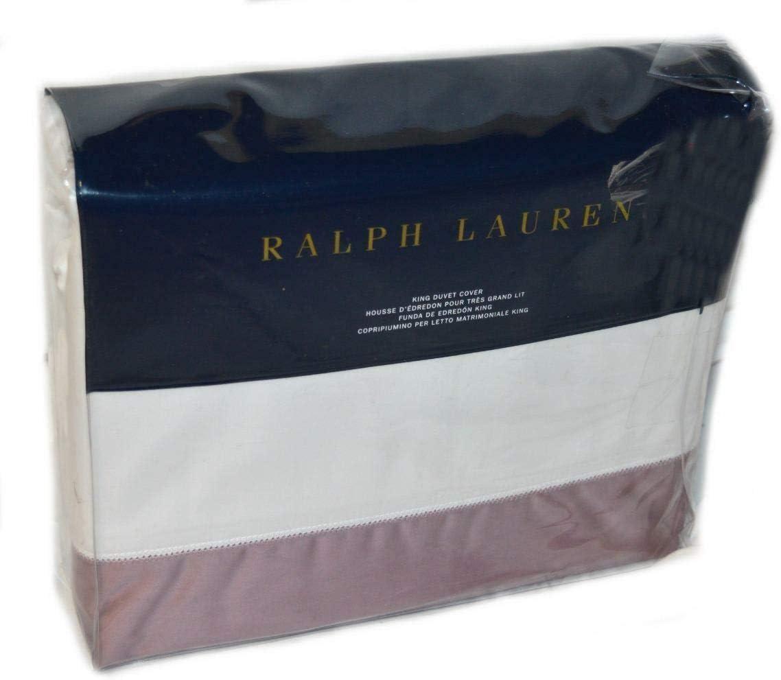 Copripiumino Wikipedia.Amazon Com Ralph Lauren Langdon Sateen White Lavender Border King