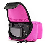 MegaGear ''Ultra-Light'' Neoprene Camera Case, Bag – Protective Cover for Sony Alpha a6500 ILCE-6500 - with Carabiner for Easy Carrying (up to 16-70mm lens)