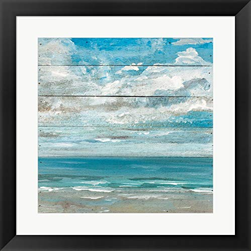 - Ocean View II by Molly Susan Strong Framed Art Print Wall Picture, Black Frame, 20 x 20 inches