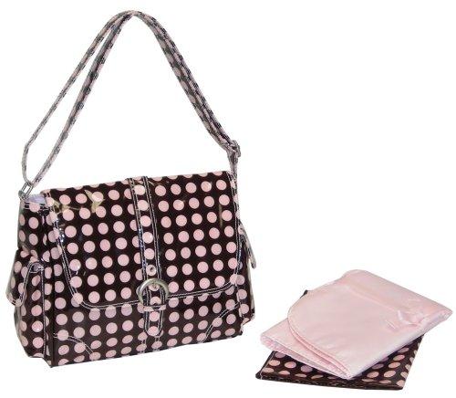 Kalencom Midi Coated Buckle Bag - Pink Heavenly Dot - Kalencom Heavenly Dots