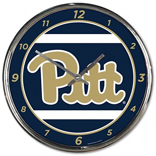 NCAA Pittsburgh Panthers WinCraft Official Chrome Clock by NCAA