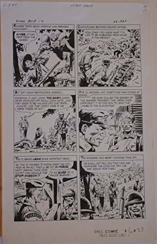 SAM GLANZMAN original art, TALES of the GREEN BERET #4 pg 27, 14x22, War, 1967 ()