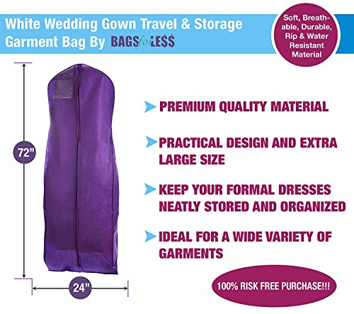 Wedding gown travel storage garment bag by bags for less for Wedding dress travel bag