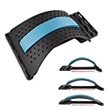 Dyna-Living Magic Back Stretcher Lumbar Support Stretching Device Posture Corrector Acupuncture Massager for Lower Relief Lumbar Pain Get Muscle Tension (Black)