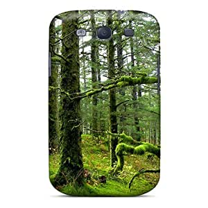 AxOZOIx8929QPyHU Protector For SamSung Galaxy S6 Case Cover Mossy Forest