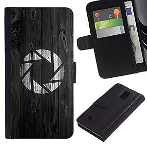 Ihec-Tech / Flip PU Cuero Cover Case para Samsung Galaxy Note 4 SM-N910 - Portal Aperture Game Gaming