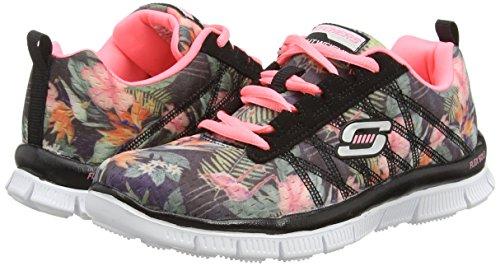 Skechers Skech Appeal-Floral Bloom, Zapatillas para Niñas Negro (bkmt)
