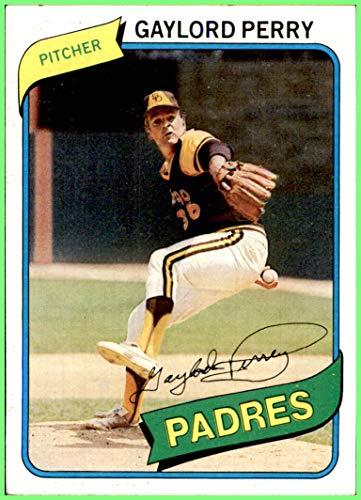 GAYLORD PERRY HOF SAN DIEGO PADRES 1980 TOPPS #280 (ex) Vintage ()