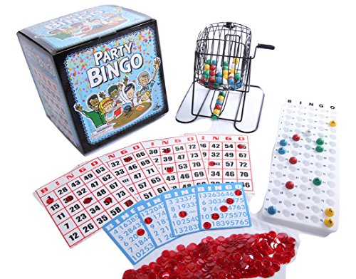 Regal Games Jumbo Party Bingo Set with Jumbo Bingo Cards and 12