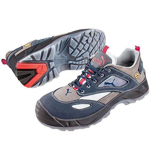 Puma Safety Shoes Aerospace Low S1 ESD SRC, Puma 640660-353 Unisex-Erwachsene Espadrille Halbschuhe, Blau (blau/grau 353), EU 39
