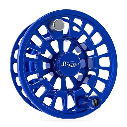 Cheap Piscifun Blaze Mid Arbor Fly Fishing Reel 3/4 wt Spare Spool Sapphire Blue