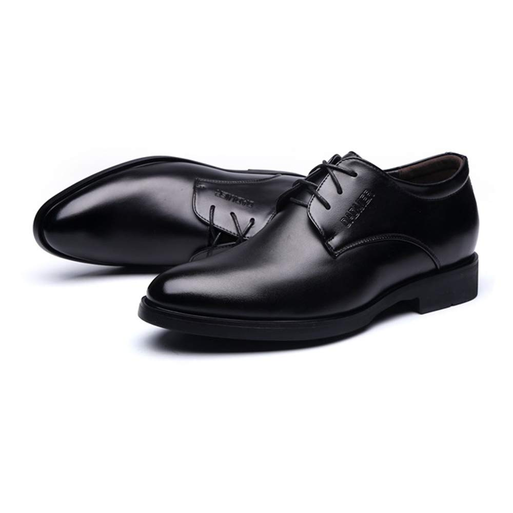 Hishoes Men's Lace Up Business Oxfrods PU Leather Loafer Elevator Shoes 2''/(6cm) Taller Removable Height Increasing Insole Anti-Slip (Color : Black, Size : 8 D(M) US) by Hishoes (Image #4)