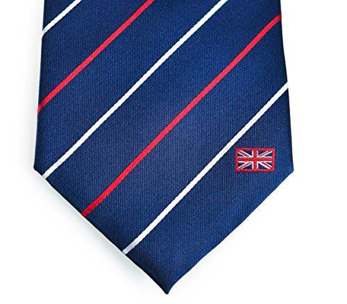 United Kingdom Tie (UK Tie) - Inspired by the British Flag. 100% Woven Silk. British Tie. British - Sale Boss Uk