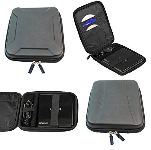 iGadgitz Black EVA Travel Hard Case Cover Sleeve for External USB DVD CD Blu-Ray Rewriter / Writer by igadgitz (Image #1)