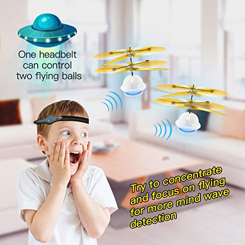 Diditech Mind Sensor Flying Ball Infrared Induction Flying Toy Attention Training Plane DIY Helicopter for Ten Year Old and Above by Diditech (Image #2)