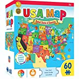 MasterPieces Maps 60 Mass Puzzles Collection - USA Map 60 Piece Jigsaw Puzzle