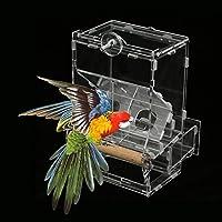 Alimentador de la jaula pájaros, Comedero acrílico a prueba ...