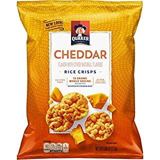 Quaker Rice Crisps, Gluten Free, Cheddar, 6.06oz Bags, 6 Count