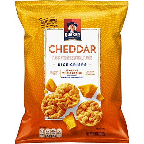 (Quaker Rice Crisps, Cheddar Cheese, 6.06 oz Bags, 6 Count (Packaging May Vary))