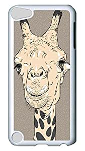 Brian114 Case, iPod Touch 5 Case, iPod Touch 5th Case Cover, Cute Giraffe 3 Retro Protective Hard PC Back Case for iPod Touch 5 ( white )