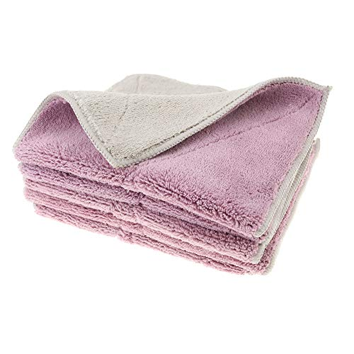 Shinyjoy 5 Pack Microfiber Dish Towels Household Kitchen Towels for Cleaning Kitchen/Car/Glasses/Furniture Soft Dish Cloths (Color-7)
