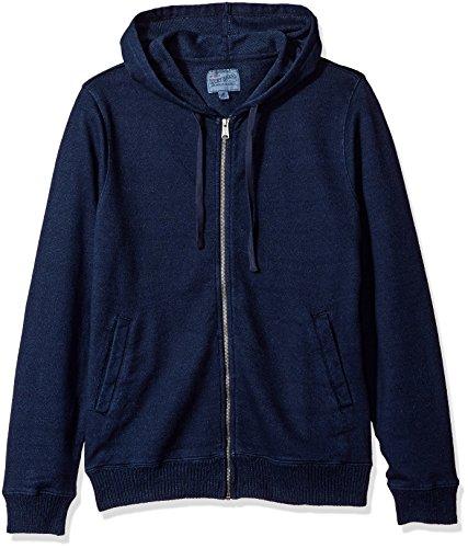 Lucky Brand Men's Aztec Graphic Full Zip Hooded Sweatshirt, Indigo, XXL by Lucky Brand