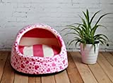 1 Pcs Important Popular Pet Half Covered Bed Size S Puppy Tent Sweet Style Dog Furniture Color Type Pink