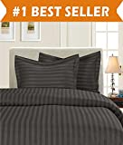 Difference Between King Size Bed and California King Luxury 3-Piece Striped Duvet Cover Set! - 1500 Thread Count Egyptian Quality Silky-Soft Wrinkle Resistant DAMASK STRIPE Duvet Cover Set, King/California King, Grey