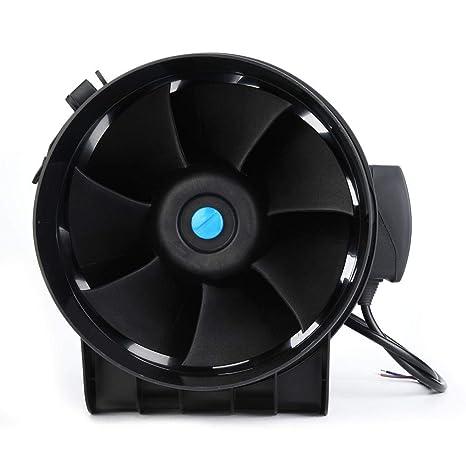 Ventilador de ventilación de conductos, motor EC de 8 pulgadas ...