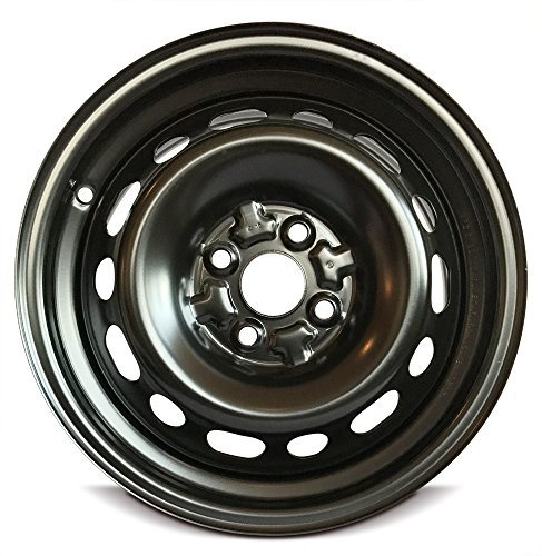 (Road Ready Car Wheel For 2011-2014 Mazda 2 15 Inch 4 Lug Black Steel Rim Fits R15 Tire - Exact OEM Replacement - Full-Size Spare)