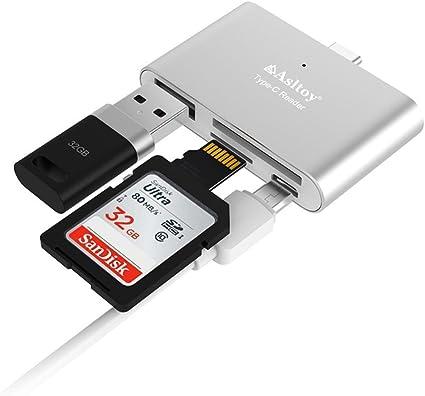Amazon.com: Lector de tarjetas SD, asltoy USB 3.0 lector de ...