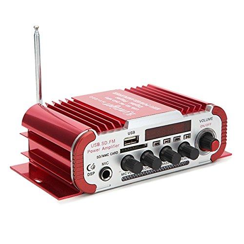 Wooya 12V Rojo Coche Y Motocicleta Amplificador Universal De Doble ...