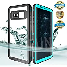 Samsung Galaxy Note 8 Waterproof Case, Effun IP68 Certified Waterproof Underwater Cover Dust/Snow Proof Shockproof Case with Phone Stand, PH Test Paper and Floating Strap Black/White/Aqua Blue/Pink
