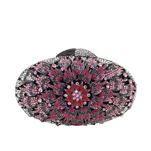 Bolso De Noche De Diamante De Cristal De Las Mujeres Bolso De Lujo Del Diamante A
