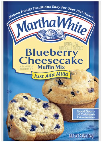 Blueberry Cheesecake Muffin - Martha White Muffin Mix, Blueberry Cheesecake, 7-Ounce Packages (Pack of 12)