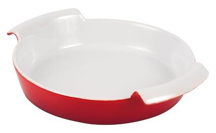Supreminox 3804 - Taza Redonda, cerámica, Color Rojo, 17 x 4 cm