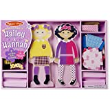 Melissa & Doug Hailey & Hannah Magnetic Dress-Up Dolls